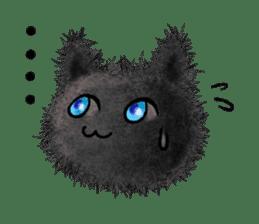 Fluffy balls (3) cat sticker #8075797