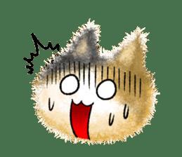 Fluffy balls (3) cat sticker #8075798
