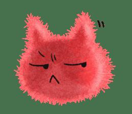 Fluffy balls (3) cat sticker #8075800