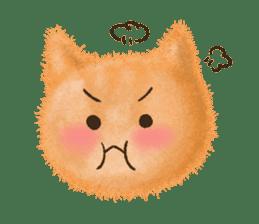 Fluffy balls (3) cat sticker #8075802