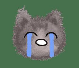 Fluffy balls (3) cat sticker #8075803