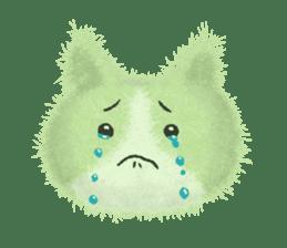 Fluffy balls (3) cat sticker #8075805