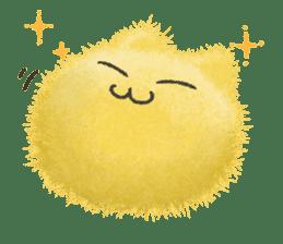 Fluffy balls (3) cat sticker #8075807