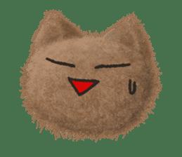 Fluffy balls (3) cat sticker #8075808