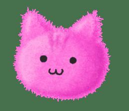 Fluffy balls (3) cat sticker #8075809