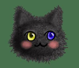 Fluffy balls (3) cat sticker #8075810