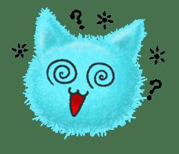 Fluffy balls (3) cat sticker #8075811