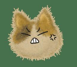 Fluffy balls (3) cat sticker #8075813