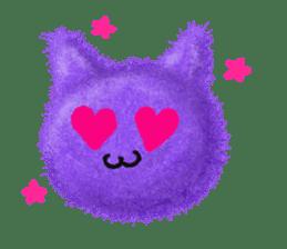 Fluffy balls (3) cat sticker #8075815