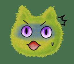 Fluffy balls (3) cat sticker #8075817