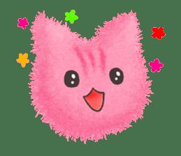 Fluffy balls (3) cat sticker #8075818