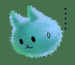 Fluffy balls (3) cat sticker #8075820