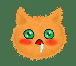 Fluffy balls (3) cat sticker #8075821