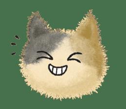 Fluffy balls (3) cat sticker #8075824