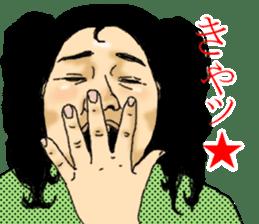 deep face human sticker #8077754