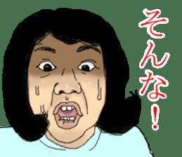 deep face human sticker #8077755