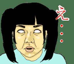 deep face human sticker #8077766