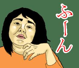 deep face human sticker #8077769
