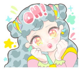Kawaii Kirakira Girls sticker #8078919