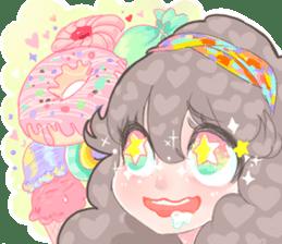 Kawaii Kirakira Girls sticker #8078936