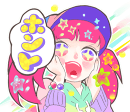 Kawaii Kirakira Girls sticker #8078938