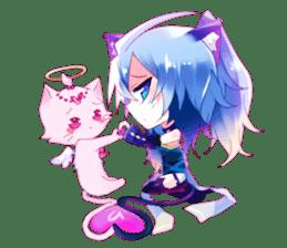 Yukari & cat friends sticker #8087405