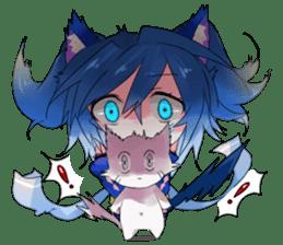 Yukari & cat friends sticker #8087408