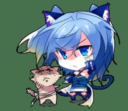 Yukari & cat friends sticker #8087409