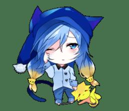 Yukari & cat friends sticker #8087422