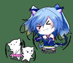 Yukari & cat friends sticker #8087430