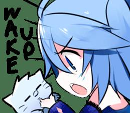 Yukari & cat friends sticker #8087431