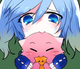 Yukari & cat friends sticker #8087441