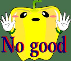 Safety confirmation by vegetables ( men) sticker #8088018