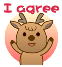 Happiness sheep & deer( International ) sticker #8093083