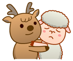 Happiness sheep & deer( International ) sticker #8093088