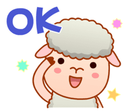 Happiness sheep & deer( International ) sticker #8093089