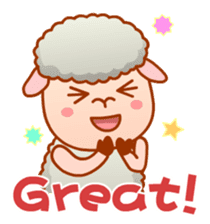 Happiness sheep & deer( International ) sticker #8093096