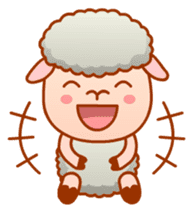 Happiness sheep & deer( International ) sticker #8093108