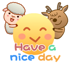 Happiness sheep & deer( International ) sticker #8093111