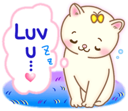 Cat couple -Thanks for your kind words- sticker #8098207