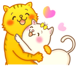 Cat couple -Thanks for your kind words- sticker #8098208