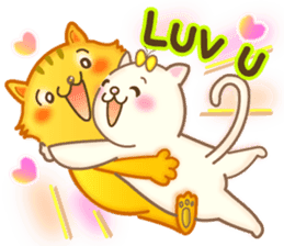 Cat couple -Thanks for your kind words- sticker #8098209