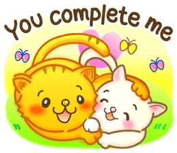 Cat couple -Thanks for your kind words- sticker #8098210