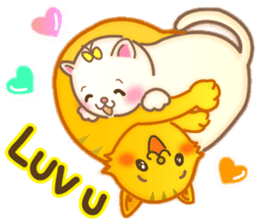 Cat couple -Thanks for your kind words- sticker #8098212