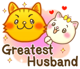 Cat couple -Thanks for your kind words- sticker #8098214