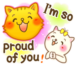 Cat couple -Thanks for your kind words- sticker #8098215
