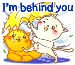 Cat couple -Thanks for your kind words- sticker #8098217
