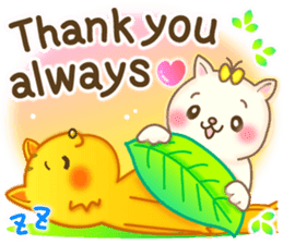 Cat couple -Thanks for your kind words- sticker #8098218