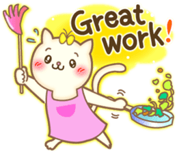 Cat couple -Thanks for your kind words- sticker #8098229