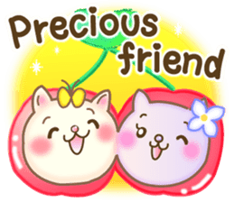 Cat couple -Thanks for your kind words- sticker #8098230